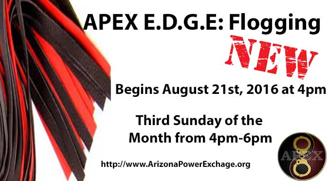 A New E.D.G.E. Group at APEX: Floggers!