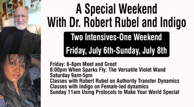 Weekend Intensive: Dr. Bob Rubel and Indigo