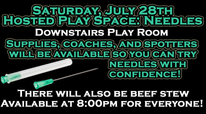 Saturday, July 28th: Hosted Play Space-Needles