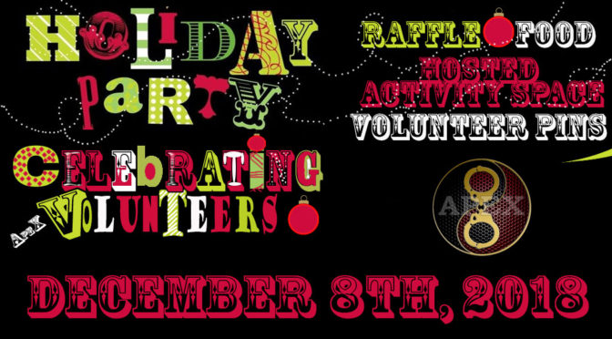 APEX Holiday Party: Saturday, December 8th, 2018